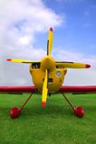 Red and Yellow plane Stock Images