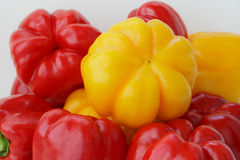 Red and yellow raw pepper. Image of red and yellow raw pepper Stock Photo