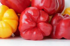 Red and yellow raw pepper. Image of red and yellow raw pepper Royalty Free Stock Photos