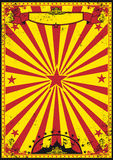 Red and yellow retro circus Stock Photos