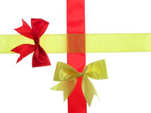 Red and yellow ribbon Royalty Free Stock Photo
