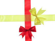 Red and yellow ribbon royalty free stock images