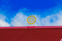 Red and Yellow rooftop Stock Image