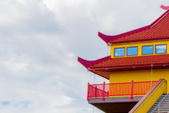 Red and Yellow rooftop Royalty Free Stock Photo