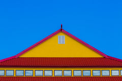 Red and Yellow rooftop Stock Photos