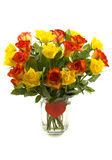 Red yellow roses Stock Image