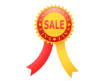 Red yellow round Sale label Royalty Free Stock Photos