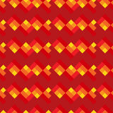 Red and yellow seamless geometric pattern. With lines Royalty Free Stock Photos