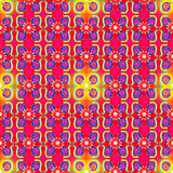 Red Yellow Seamless Pattern Royalty Free Stock Photo