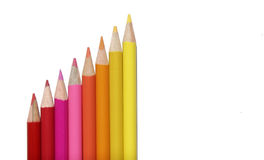 Red Yellow Set Of Coloured Pencils Stock Images