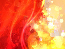 Red and yellow shine brush strokes background. Stock Photo