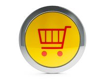Shopping cart icon with highlight Stock Image