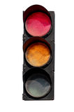 Red and the yellow signal of the traffic light Stock Photography