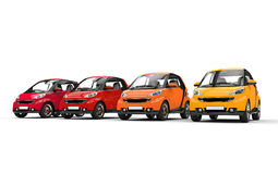Red And Yellow Small Cars Royalty Free Stock Image