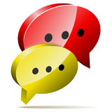 Red and yellow speech bubbles. Royalty Free Stock Image