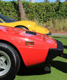 Red and yellow ferrari sports car line up Royalty Free Stock Photos