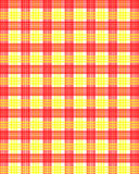 Red yellow squares pattern Stock Photo