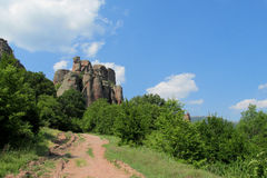 Red and yellow stone cliff and rock in Beogradchik, Bulgaria Stock Images