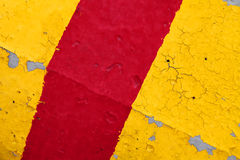 Red and yellow striped road barrier texture Royalty Free Stock Photos