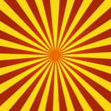 Red and Yellow Sunburst. Old 70s Style Sunburst with some sneaky gradients  to attract even more attention to the centre Stock Photos