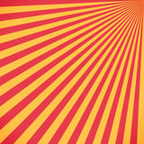 Red and yellow sunburst circle and background pattern Stock Photos