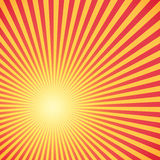 Red and yellow sunburst circle and background pattern Stock Images