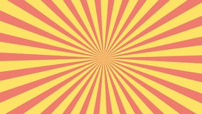 Red and yellow sunburst circle and background pattern animation.Colored back Pop Art Style yellow background motion video. stock video