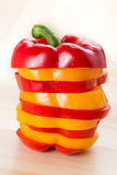 Red and Yellow sweet bell peppers Royalty Free Stock Photography
