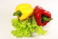 Red and yellow sweet peppe Stock Photos