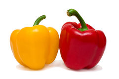 Red and yellow sweet pepper Royalty Free Stock Images