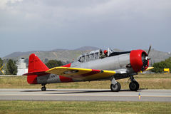 Red Yellow T-6 Texan Royalty Free Stock Photography