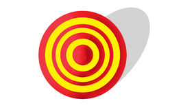 Red and Yellow Target Stock Image