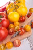 Red and yellow tomatoes Stock Image