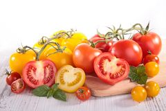 Red and yellow tomatoes Royalty Free Stock Photos