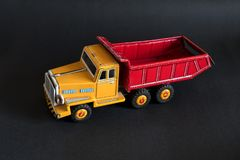 Red and yellow toy truck Royalty Free Stock Images