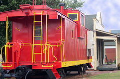 Red and Yellow Train Caboose Royalty Free Stock Photo