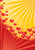 Red and yellow valentine card Royalty Free Stock Images