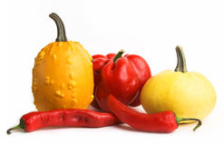 Red and yellow vegetables Stock Image