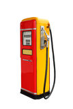 Red and yellow vintage gasoline fuel pump Royalty Free Stock Photography
