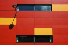Red and yellow wall Stock Photos