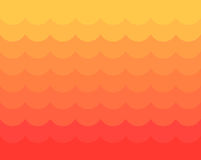 Red and yellow waves stock illustration