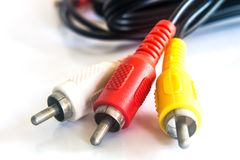Red,yellow,white cable Stock Photos