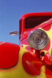 Red and yellw hotrod Stock Images