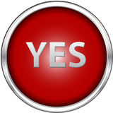 Red yes button Stock Images