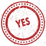 Red YES distressed rubber stamp with grunge texture. Illustration Royalty Free Stock Photo