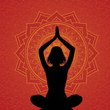 Red yoga background Royalty Free Stock Image
