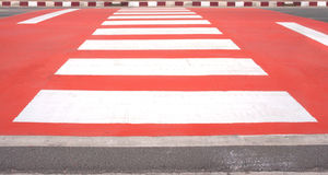 Red zebra crossing Stock Photography
