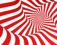 Red Zebra Spiral Stock Photography