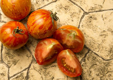 Red zebra tomatoes Stock Photo