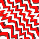 Red Zig Zag Pattern Royalty Free Stock Photography